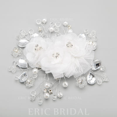 """Combs & Barrettes Wedding/Special Occasion/Party Alloy/Imitation Pearls 5.71""""(Approx.14.5cm) 5.31""""(Approx.13.5cm) Headpieces (042154842)"""