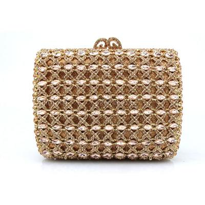 Clutches/Wristlets Wedding/Ceremony & Party Acrylic/PU Clip Closure Charming Clutches & Evening Bags (012186548)