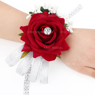 """Wrist Corsage Rosy Wedding/Party/Casual Fabric 3.54"""" (Approx.9cm) Wedding Flowers (123190167)"""