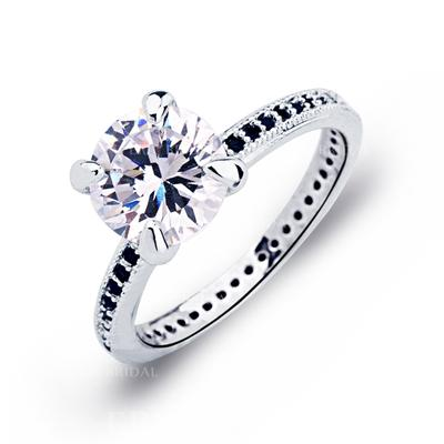 Rings Copper/Zircon/Platinum Plated Ladies' Classic Wedding & Party Jewelry (011165386)