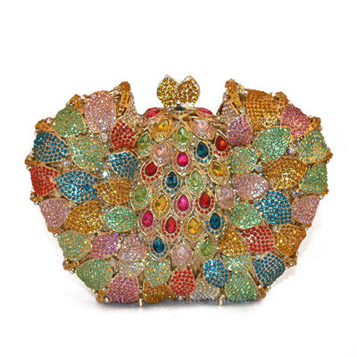 Clutches/Wallets & Accessories/Bridal Purse/Fashion Handbags/Makeup Bags Wedding/Ceremony & Party/Casual & Shopping Alloy Elegant Clutches & Evening Bags (012187844)
