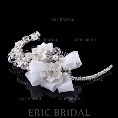 """Combs & Barrettes/Headbands Wedding/Special Occasion/Party Rhinestone/Alloy/Imitation Pearls/Lace 6.69""""(Approx.17cm) 3.35""""(Approx.8.5cm) Headpieces (042154828)"""