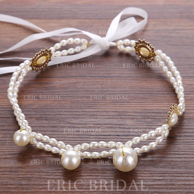 "Headbands Wedding/Party Rhinestone/Imitation Pearls 7.87""(Approx.20cm) 0.98""(Approx.2.5cm) Headpieces (042158721)"