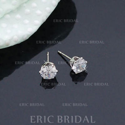 Earrings Alloy/Zircon Pierced Ladies' Shining Wedding & Party Jewelry (011168067)