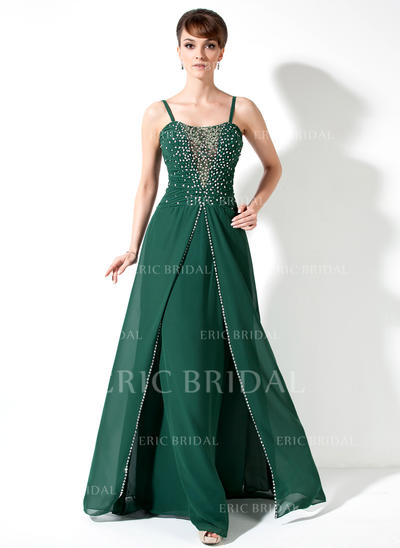 A-Line/Princess Sweetheart Floor-Length Mother of the Bride Dresses With Ruffle Beading Sequins (008211432)