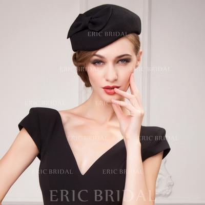 Wool With Bowknot Beret Hat Simple Ladies' Hats (196193622)