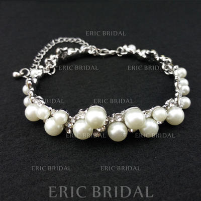 "Bracelets Alloy/Rhinestones/Imitation Pearls Ladies' Classic 9.84""(Approx.25cm) Wedding & Party Jewelry (011167888)"