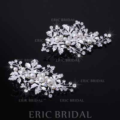 """Hairpins Wedding/Special Occasion Rhinestone/Alloy 3.94""""(Approx.10cm) 2.17""""(Approx.5.5cm) Headpieces (042157544)"""