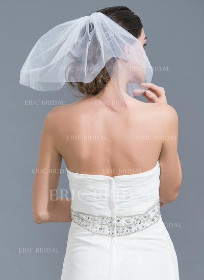 Russian Veils Tulle Two-tier Classic With Cut Edge Wedding Veils (006152218)