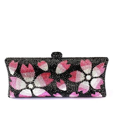 Clutches/Luxury Clutches Wedding/Ceremony & Party/Casual & Shopping Crystal/ Rhinestone/Alloy Magnetic Closure Attractive Clutches & Evening Bags (012185980)