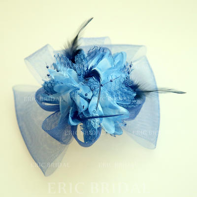 "Forehead Jewelry/Hats Wedding/Special Occasion/Party Net Yarn/Silk Flower 5.91""(Approx.15cm) 4.72""(Approx.12cm) Headpieces (042159512)"