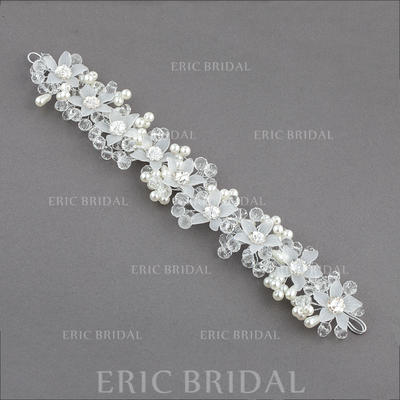 """Headbands Wedding/Special Occasion/Party Crystal/Imitation Pearls/Plastic 10.04""""(Approx.25.5cm) 1.57""""(Approx.4cm) Headpieces (042155728)"""