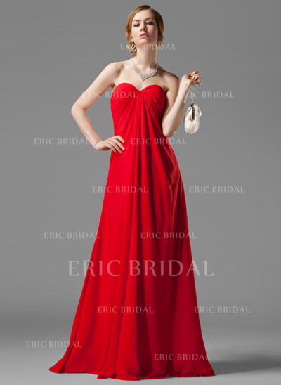 Empire Sweetheart Floor-Length Bridesmaid Dresses With Ruffle Beading (007001058)