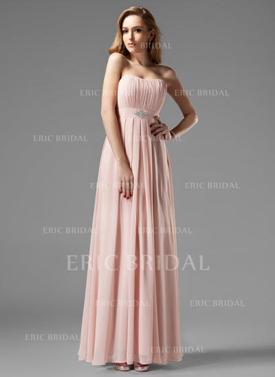 A-Line/Princess Sweetheart Floor-Length Bridesmaid Dresses With Ruffle Beading (007004093)