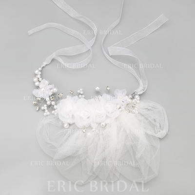 """Headbands Wedding/Special Occasion/Party Alloy/Imitation Pearls/Tulle 9.25""""(Approx.23.5cm) 2.36""""(Approx.6cm) Headpieces (042154858)"""