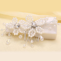 "Combs & Barrettes Wedding/Party Crystal/Imitation Pearls 5.53""(Approx.14cm) 2.37""(Approx.6cm) Headpieces"