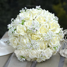 "Bridal Bouquets/Bridesmaid Bouquets Round Wedding PE 11.8""(Approx.30cm) Wedding Flowers"