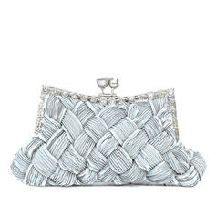 Clutches Wedding/Ceremony & Party Silk Kiss lock closure Charming Clutches & Evening Bags