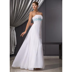 Empire Strapless Floor-Length Evening Dresses With Ruffle Beading Sequins (017014471)