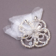 """Combs & Barrettes Wedding/Special Occasion/Party Rhinestone/Imitation Pearls/Net Yarn 7.09""""(Approx.18cm) 1.18""""(Approx.3cm) Headpieces"""