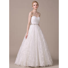 Ball-Gown Sweetheart Floor-Length Wedding Dresses With Ruffle Beading Sequins (002210613)