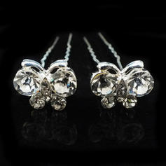 "Hairpins Wedding/Special Occasion/Party Alloy/Czech Stones 2.76""(Approx.7cm) 0.78""(Approx.2cm) Headpieces"