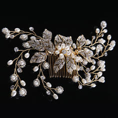 """Combs & Barrettes Wedding/Special Occasion Rhinestone/Alloy/Imitation Pearls 6.69""""(Approx.17cm) 2.76""""(Approx.7cm) Headpieces"""