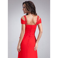 red tulle evening dresses