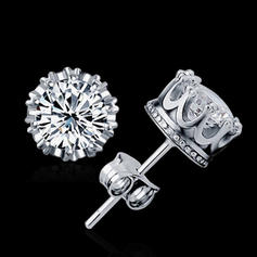 Earrings Sterling Silver Pierced Ladies' Elegant Wedding & Party Jewelry