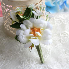 """Boutonniere/Men's Accessories Wedding Satin 4.53""""(Approx.11.5cm) The color of embellishments are shown as picture/Color & Style representation may vary by monitor Wedding Flowers"""