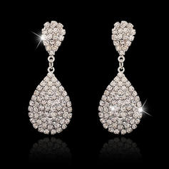 Earrings Alloy/Crystal Pierced Ladies' Elegant Wedding & Party Jewelry