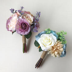 """Bridal Bouquets Wedding 9.84""""(Approx.25cm) 7.09""""(Approx.18cm) (Sold in a single piece) Wedding Flowers"""