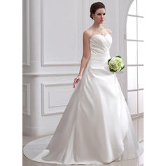 Ball-Gown Sweetheart Chapel Train Wedding Dresses With Ruffle (002001715)