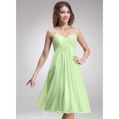 Empire Sweetheart Knee-Length Bridesmaid Dresses With Ruffle (007001924)