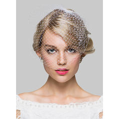 Blusher Veils Tulle One-tier 11.02 in (28cm) Ivory Wedding Veils