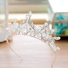 Tiaras Alloy Venetian Pearl/Czech Stones (Sold in single piece) Headpieces