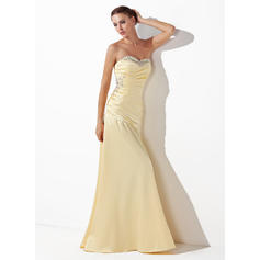 A-Line/Princess Sweetheart Floor-Length Prom Dresses With Ruffle Beading Sequins (018004827)