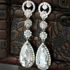 Earrings Zircon Pierced Ladies' Beautiful Wedding & Party Jewelry