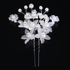 """Hairpins Wedding/Special Occasion Alloy/Imitation Pearls 3.15""""(Approx.8cm) 2.76""""(Approx.7cm) Headpieces"""