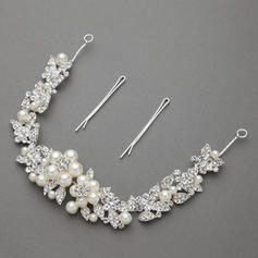 """Headbands Wedding/Special Occasion/Party Alloy/Imitation Pearls 11.02""""(Approx.28cm) 1.30 """"(Approx.3.3cm) Headpieces"""