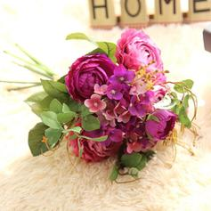 """Bridal Bouquets Round Wedding/Party/Casual Satin 14.57""""(Approx.37cm) Wedding Flowers"""