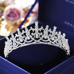 """Tiaras Wedding/Special Occasion/Casual/Outdoor/Party/Carnival/Art photography Zircon 1.77""""(Approx.4.5cm) 5.71""""(Approx.14.5cm) Headpieces"""