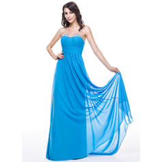 A-Line/Princess Sweetheart Sweep Train Prom Dresses With Ruffle Beading Sequins (018051145)