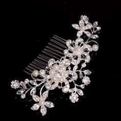 """Combs & Barrettes Wedding/Special Occasion/Party Alloy/Imitation Pearls 4.53""""(Approx.11.5cm) 2.76""""(Approx.7cm) Headpieces"""
