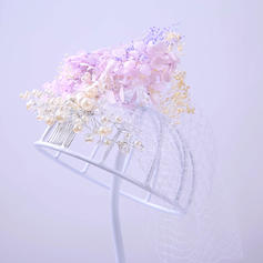 """Combs & Barrettes Wedding/Special Occasion/Party Rhinestone/Tulle 9.84""""(Approx.25cm) 7.87""""(Approx.20cm) Headpieces"""