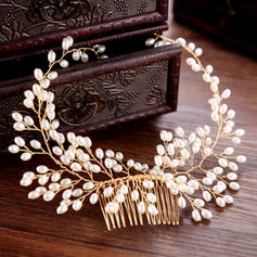 """Combs & Barrettes Wedding/Special Occasion/Party/Art photography Alloy/Imitation Pearls 13.78""""(Approx.35cm) 2.36""""(Approx.6cm) Headpieces"""