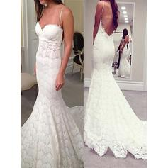 Trumpet/Mermaid Sweetheart Court Train Wedding Dresses