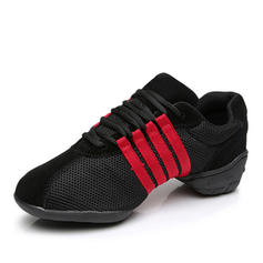 Women's Practice Sneakers Leatherette With Lace-up Dance Shoes