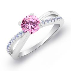 Rings Copper/Zircon/Platinum Plated Ladies' Shining Wedding & Party Jewelry