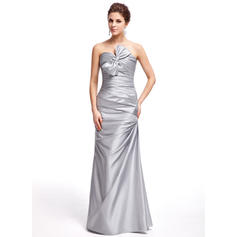 Sheath/Column Sweetheart Floor-Length Prom Dresses With Ruffle Bow(s) (018005076)